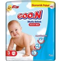 Goon Mutlu Bebek 3 Numara Külot Bez 7-12 kg Ekonomik Paket 204 Adet