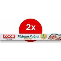 Cook Standart Pişirme Kağıdı 37 cm x 8 M 2'li Paket