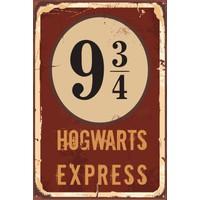 Hayat Poster Harry Potter Hogwart Express Dokuz Çeyrek Retro Vintage Poster