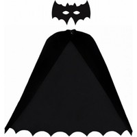 Kostümce Batman Pelerin ve Maske Seti Yetişkin