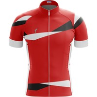Freysport Braid Bisiklet Forması - Kısa Kollu Kırmızı - Beyaz