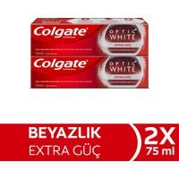 Colgate Optik Beyaz Extra Güç Beyazlatıcı Diş Macunu 75 ml x 2 Adet