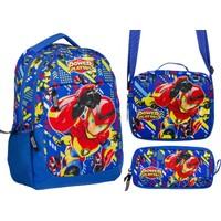 Ümit Çanta Power Players Mavi Kırmızı Erkek Çocuk İlkokul Çanta Seti