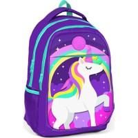 Yaygan Kids Mor Unicorn Kız Çocuk İlk ve Orta Okul Çantası