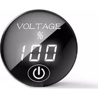Autoline Araba Kamyon Motorsiklet İçin Dijital Anahtarlı Voltmetre 5V-48V