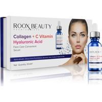 Roox Beauty Kolajen - C Vitamini - Hyaluronik Asit Aydınlatıcı ve Kırışıklık Karşıtı Yüz Serumu 30 ml