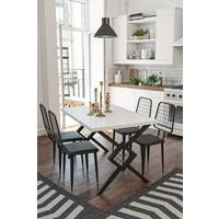 Wood House Berlingo Yemek Masası Takımı Beyaz