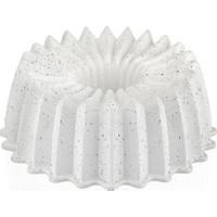 Taç Ela Döküm Kek Kalıbı Beyaz 25 cm