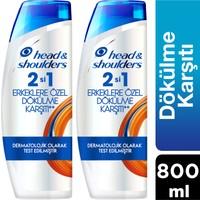H&S 2'si 1 Arada Şampuan Erkeklere Özel Saç Dökülmelerine Karşı 400 ml x2