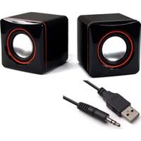 Wonderlust Multimedya 1+1 Mini Pc Hoparlör 2.0 USB Speaker 2.5W
