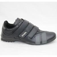 Texin Siyah Cilt Cıtlı Spor Ayakkabı