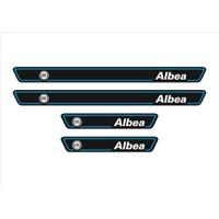 Ömr Dizayn Hediye Albea Logolu 4'lü Kapı Eşiği Oto Aksesuar Mavi