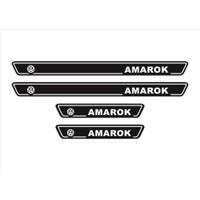 Ömr Dizayn Hediye Amarok Logolu 4'lü Kapı Eşiği Oto Aksesuar Beyaz