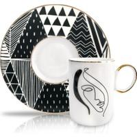 Winterbach Geometrik Desen 6'lı Türk Kahvesi Fincanı