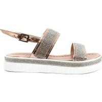 Dgn K238 Kadın Silver Taşlı Bantlı Bilekten Bağlı Sandalet 20Y