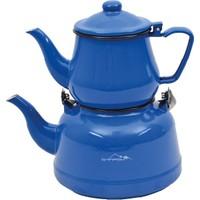 Nurgaz Campout Emaye Kamp Çaydanlık Set Mavi