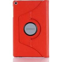 """Fibaks Samsung Galaxy Tab S6 Lite SM-P610 10.4"""" Kılıf + Kalem 360 Derece Dönebilen Standlı Tam Koruma Uyku Modlu Kapaklı Kırmızı"""