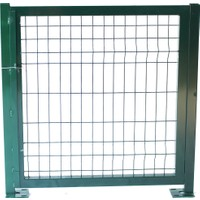 Batı Tel Örgü Panel Çit Kapı Yeşil Sağ İç 100 x 100 cm