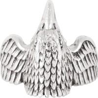 Labalaba Erkek Antik Gümüş Kartal Yüzük