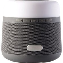 MF Product Acoustic 0371 Işıklı Wireless Charger Kablosuz Bluetooth Speaker Gri