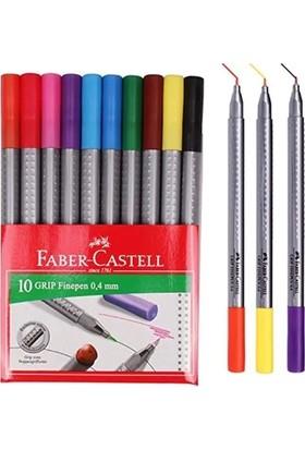 Faber-Castell Grip Finepen Keçe Uç 0.4mm 10'lu Karton Kutu