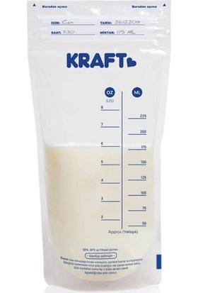 Kraft 30'lu Şeffaf Süt Saklama Poşeti