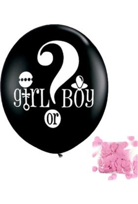 Pembe Mavi Cinsiyet Balonu Kız Mı Erkek Mi Balon Pembe Pullu