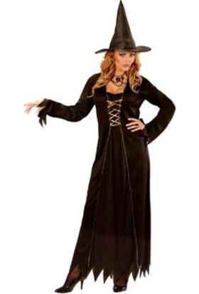 Kostümce Halloween Cadı Kostümü Bayan Yetişkin