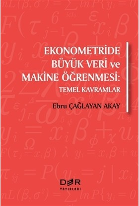 Ekonometride Büyük Veri Ve Makine Öğrenmesi - Ebru Çağlayan Akay