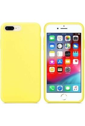 Minesk Apple iPhone 7-8 Lansman Silikon Kılıf Sarı
