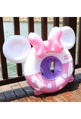 Schulzz Minnie Mouse Desenli Ayak Geçmeli Bebek Çocuk Deniz Simidi