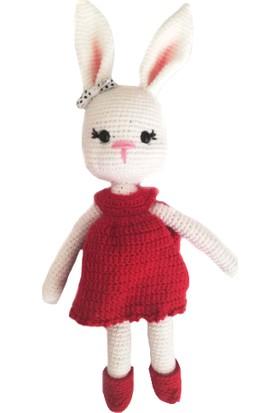 Nuh Home Oyuncak El Yapımı Tavşan Bebek - Kırmızı