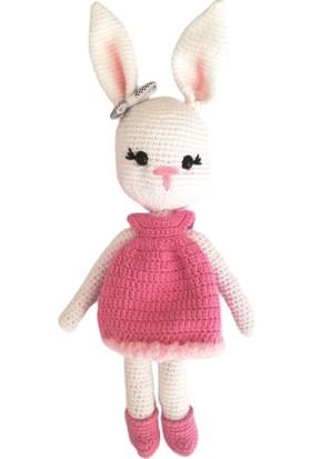 Nuh Home Oyuncak El Yapımı Tavşan Bebek - Lila