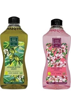 Eyüp Sabri Tuncer Sıvı Sabun Seti - Japon Kiraz Çiçeği + Ayvalık Zeytin Çiçeği 2 x 1500 ml