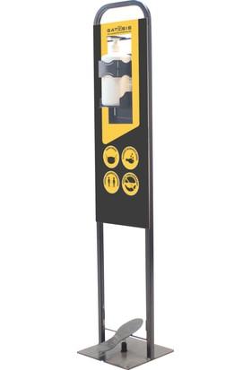 Gatesis Ekogate 125 Metal Pedallı El Dezenfektan Standı