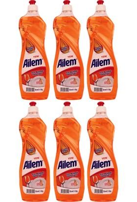 Güleç Ailem Sıvı Bulaşık Deterjanı 750 ml Portakal 6'lı
