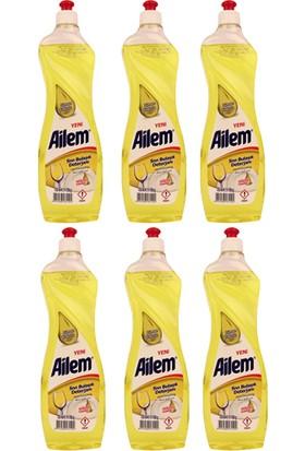 Güleç Ailem Sıvı Bulaşık Deterjanı 750 ml Limon 6'lı