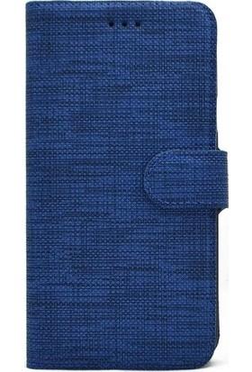 Kılıfreyonum Samsung Galaxy A20S Kılıf Kumaş Desenli Cüzdanlı Kapaklı Kartlıklı Tam Korumalı Kılıf