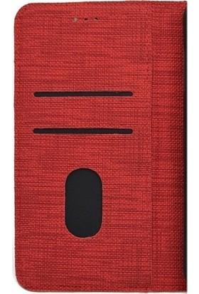 Happyshop Samsung Galaxy M11 Kılıf Kumaş Desenli Cüzdanlı Standlı Kapaklı Kılıf + Cam Ekran Koruyucu