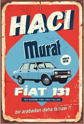 Hayat Poster Hacı Murat 131 Klasik Araba Retro Vintage Ahşap Poster