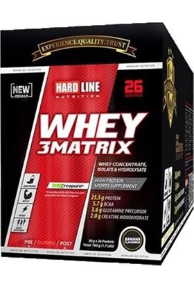 Hardline Whey 3 Matrix 30 gr 26 Saşe Protein Tozu Muz Aromalı