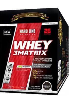 Hardline Whey 3 Matrix 30 gr 26 Saşe Protein Tozu Çikolata Aromalı