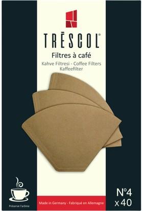 Trescol Brasil Kağıt Filtre Için Öğütülmüş Kahve 250 gr + Trescol 40'lı Kağıt Filtre