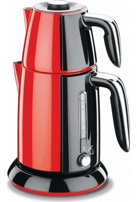 Korkmaz A 347-01 Tek Çay Elektrikli Çaydanlık Kırmızı/Siyah