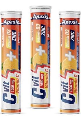 Apexis C Vit 1000 mg C Vitamini 20'li Tablet