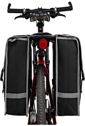 Okkored Reflektörlü Bisiklet Motosiklet Arka Sele Seyahat Eşya Taşıma Çanta 45 Litre BS70