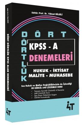 4t Yayınları Kpss A Grubu Dört Dörtlük 4 Deneme Çözümlü
