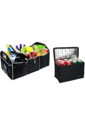 Eziva Home Araç İçi 3+1 Bölmeli Bagaj Soğuk Tutucu Düzenleyici Çanta