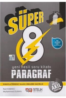 Nitelik Yayınları 8.sınıf Yeni Nesil Süper Paragraf Soru Kitabı