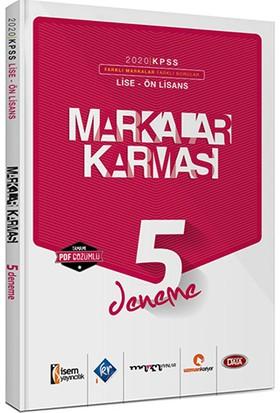 Marka Yayınları Kpss Lise - Ön Lisans Markalar Karması 5 Farklı Yayın 5 Farklı Pdf Çözümlü Deneme Sınavı Seti